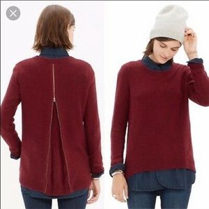 Madewell | Zipper Back Pullover Knit Sweater XS